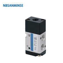 NBSANMINSE 3A110 3A120 1/8 Air Pneumatic Control Valve Two Position Three Way AirTAC Type Air Valve Low Pressure free shipping airtac 5 way pneumatic air hand lever operated valve 4h210 08 port 1 4 bsp manual control valves