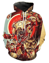 Superhero Hoodie Cosplay Costumes Iron Man Autumn Hoodies Men Women 3D Printing Fashion Hooded Sweatshirt