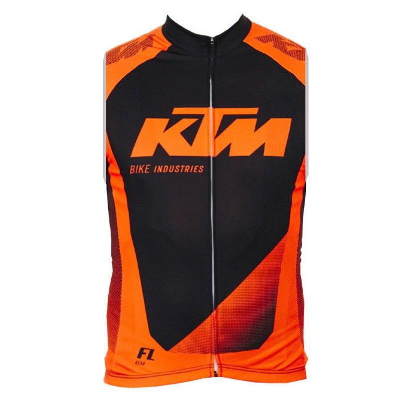 2018 KTM Vélo Jersey hommes Sans Manches Vélo Chemises Respirant Vtt Vêtements En Plein Air VTT Maillot Ropa Ciclismo