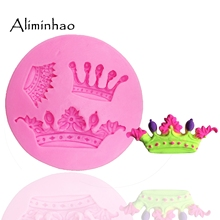 Chocolate Molds Decorating-Tools Dessert Candy Clay Fondant Cake Crown Silicone B0111