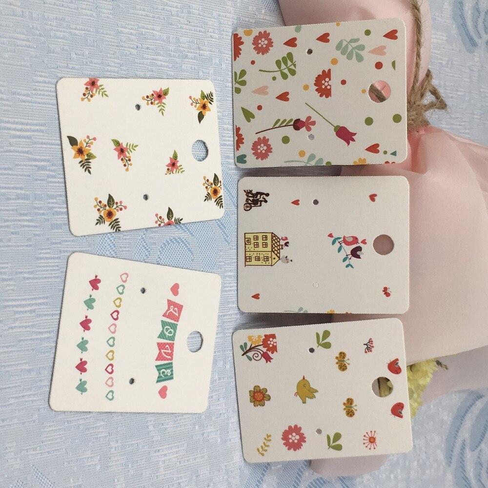 100Pcs  Paper Earring Cards 5*4CM Jewelry Accessory Packaging Displays Cards For Fashion Earrings /Eardrop/Ear Pendants Card