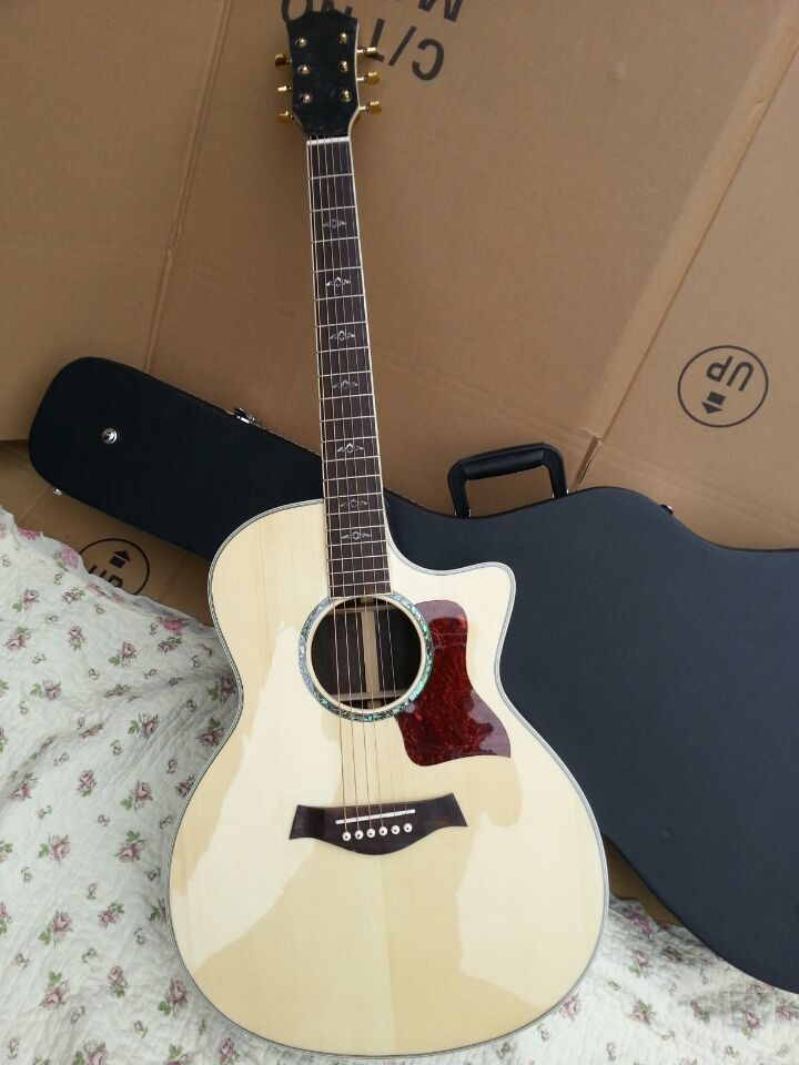 2018 New Factory Chaylor 812ce acoustic guitar Tayl 814ce acoustic electric guitar Natural KSG 814 NA