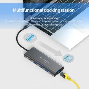 Image 5 - LU USB C Type C 3.1 répartiteur 3 ports USB C HUB vers Multi USB 3.0 adaptateur HDMI pour MacBook Pro USB C HUB ordinateur portable Station daccueil