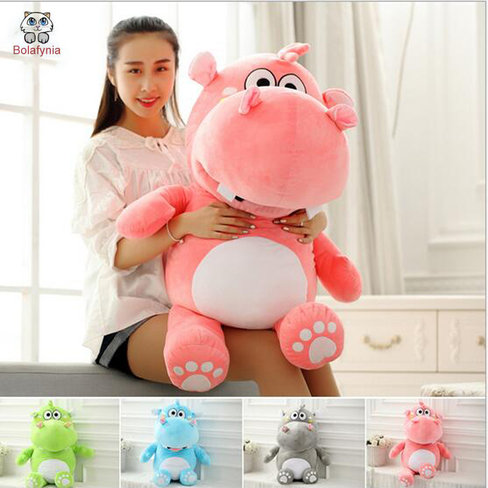BOLAFYNIA Lovely Hippo plush toy Birthday Valentine's Day gift Christmas gift children stuffed toy lovely giant panda about 70cm plush toy t shirt dress panda doll soft throw pillow christmas birthday gift x023