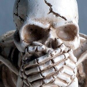 Кукла в стиле Хэллоуина, страшный череп, дом с привидениями, реквизит ужаса, украшения для Хэллоуина, голова человека, резиновая Реплика, медицинская модель