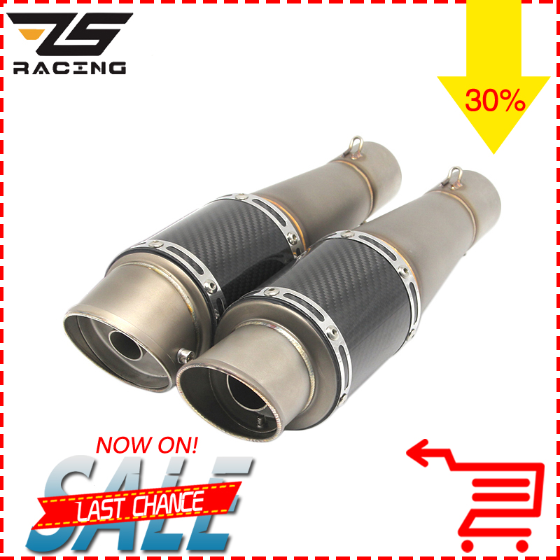 ZS Racing 35-51mm Universal Modified Motorcycle Exhaust Pipe For CBR R1 R6 ESCAPE Moto Exhaust With DB Killer modified akrapovic exhaust escape moto silencer 100cc 125cc 150cc gy6 scooter motorcycle cbr jog rsz dirt pit bike accessories