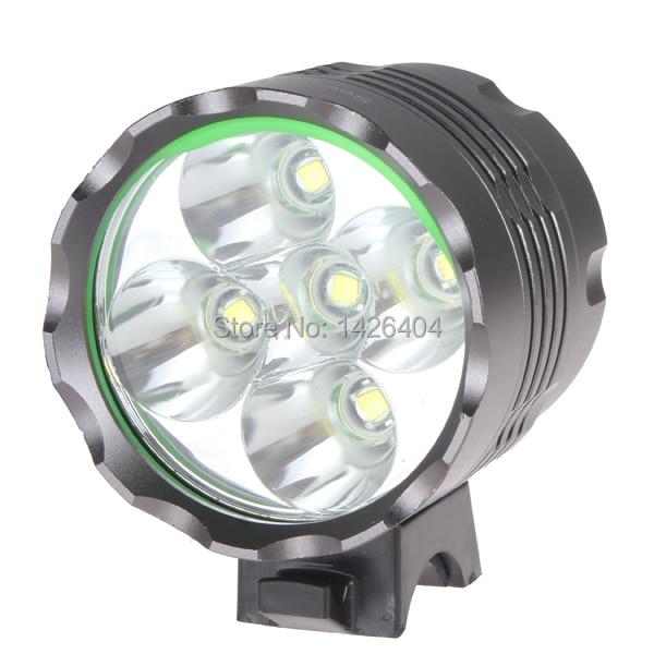 High Power 6000 Lumen Super Bright 5 X XML T6 LED Front Bicycle Light Bike Lamp
