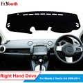 Auto Dashboard Cover Dash Mat Voor Mazda 2 Demio 3rd 2008-2014 Non-slip Zonnescherm DashMat Anti-Uv auto Styling 1Pc