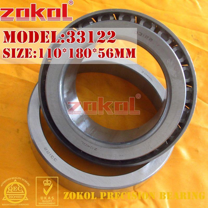 ZOKOL bearing 33122 3007722E Tapered Roller Bearing 110*180*56mm zokol bearing 32915 2007915e tapered roller bearing 75 105 20mm