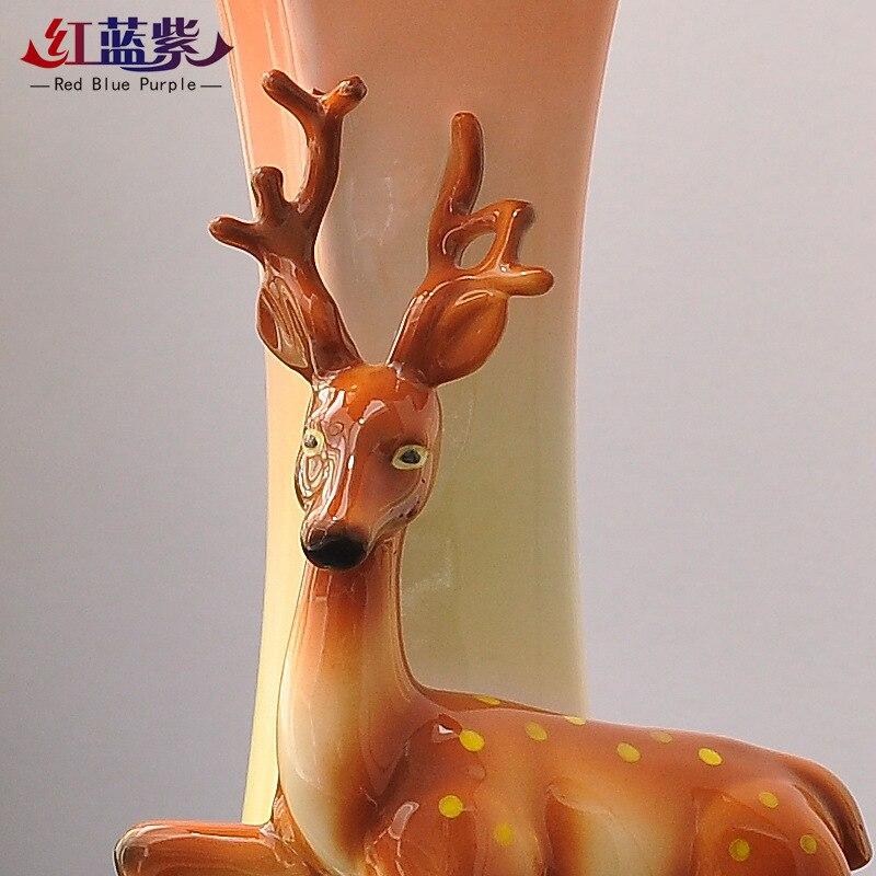 Классические часы колокольчик сливы езды на украшения с оленями дома гостиной красивые часы настольные часы китайские часы работы - 3
