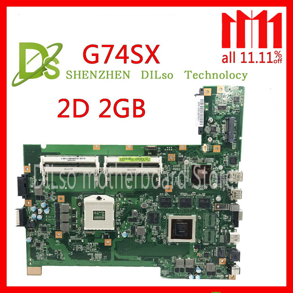 KEFU G74SX motherboard for ASUS G74SX GTX560M 2GB support 2D connector 4 Memory slot laptop motherboard цена