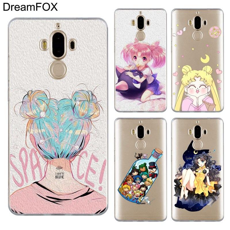 Delicious Fulcol Sailor Moon Cartoon Transparent Hard Case Cover For Huawei P8 P9 P10 P20 Lite Plus Pro Lite 2017 Cellphones & Telecommunications Half-wrapped Case