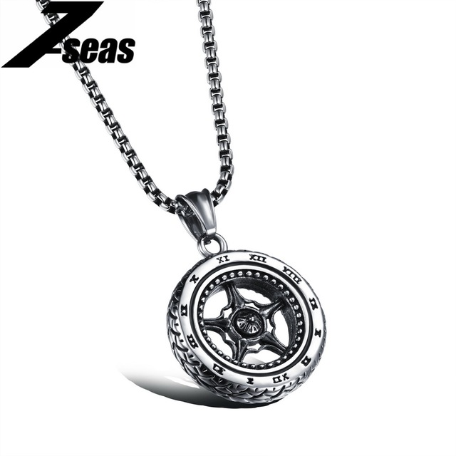 rock male product new necklaces charms jewelry hop cool plated hip mens fashion filling design gold pieces wholesale pendant tire men necklace diamond