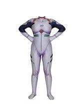 EVA Evangelion Ayanami Rei Costume Lycra Superhero Bodysuit Halloween Jumpsuits Zentai Suis