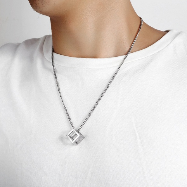Купить модные ожерелья с полыми кубическими подвесками для женщин ювелирные картинки