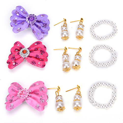 1 Set New Jewelry Pearl Necklace Earrings For Barbie Dolls Plastic Accessories Kids Best Diy Birthday Gift S Doll In From Toys
