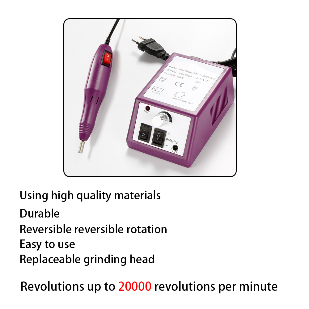 Electric Nail Drill Machine for Manicure Nail Art Sanding File Tools Kit Nail Drill Bits Ceramic Mill Cutter Gel Varnish Remover