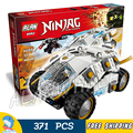 371 unids 10523 bela ninja ninja titanium vaso bloques de construcción ladrillos niños juguetes compatibles con lego