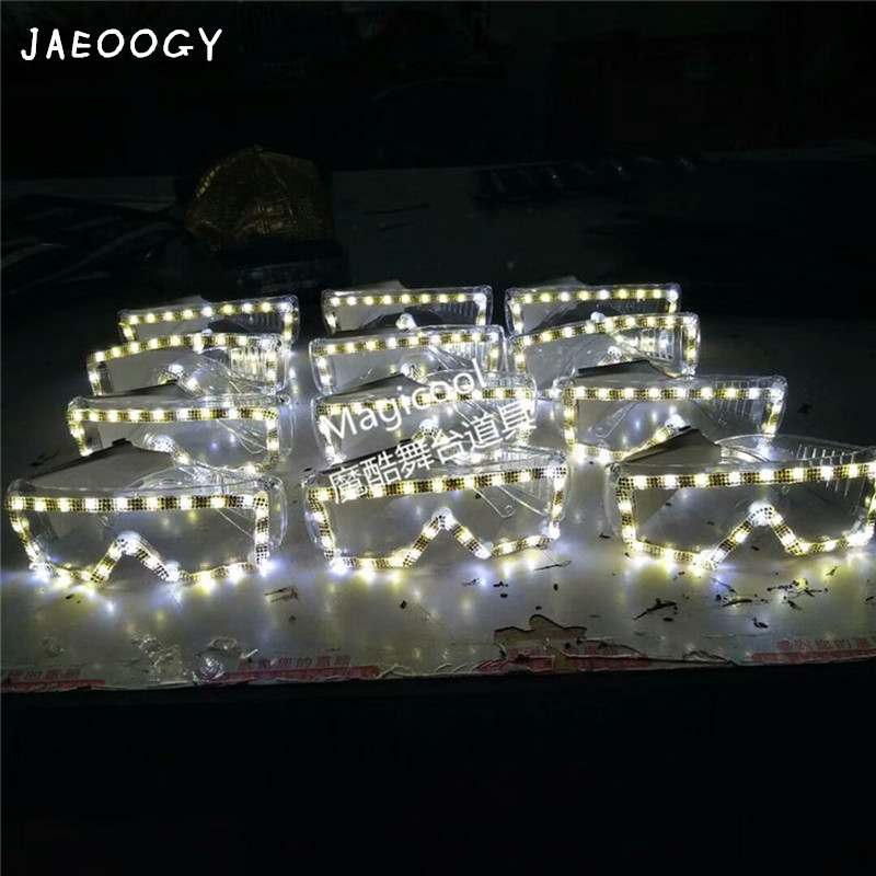 2018 newest LED Glasses Light Up Shades Flashing Rave Wedding Party Indoor & Outdoor Night Shows & Activities Christmas decors