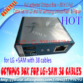 Caixa de polvo ativado completo + 38 em 1 conjunto completo de cabos para lg e para samsung unlock flash & repair