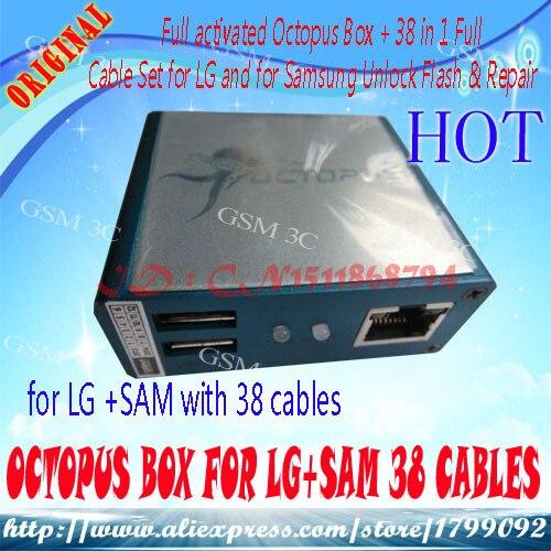 Plein activé Octopus Boîte + 38 en 1 Complet Câble pour LG et pour Samsung Unlock Flash et Réparation
