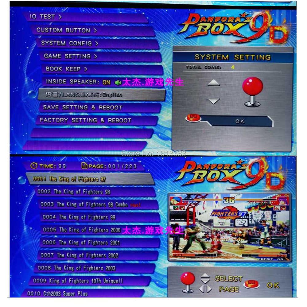 Pandoras 9D 2222 IN 1 Arcade Game Board HDMI TV Arcade Console Joystick 2222 Games Retro Arcade console PCB board