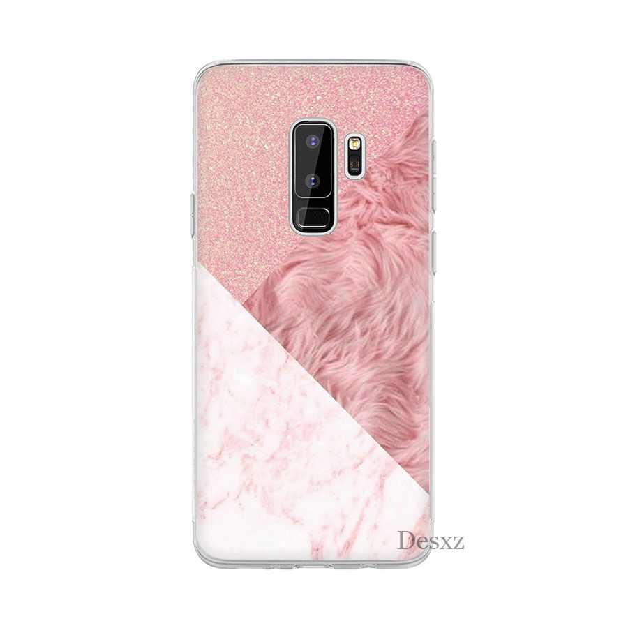 Desxz هاتف محمول حالة الذهب الوردي روز بريق لسامسونج غالاكسي A10 A30 A40 A50 A70 A3 A5 A6 A8 زائد حامي غطاء