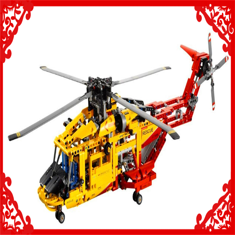 DECOOL 3357 Technic City Series 2In1 Helicopter Building Block Compatible Legoe 1056Pcs Toys For Children decool 7108 batman chariot superheroes bat tank building block 506pcs diy educational toys for children compatible legoe
