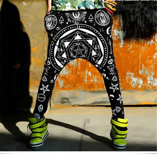 Just.be.never Hip Hop Dance Harem Pants Harajuku Loose Elastic Waist Trousers  Women Animal Rapper Bigbang G-dragon Style Rock b36f7afc78aa