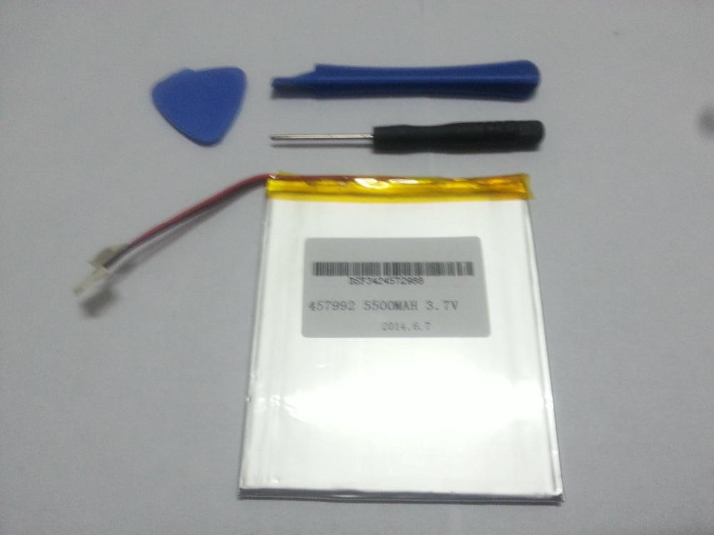 3,7 V 5500 mAh Li-ion (polímero de iones de litio) para 7,8, 9 pulgadas tablet PC ICOO D70pro 4,5*79*92mm envío libre