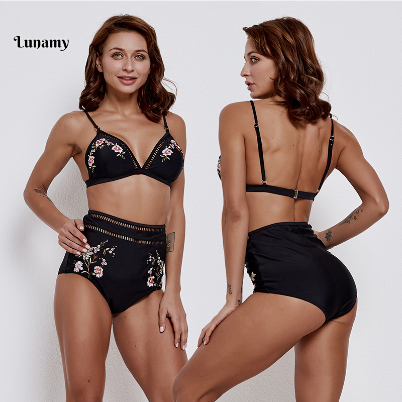 High Waist Bikinis 2019 Mujer Swimwear Women Swimsuit Sexy Push Up Bathing Suit Women Separate Female Swimsuit Biquini Beachwear