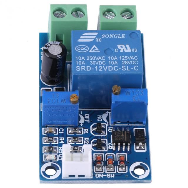 12V Undervoltage Switch Undervoltage Protection Board Battery Low Voltage Cut off Automatic Switch On Recovery Protection Module-in Voltage ...