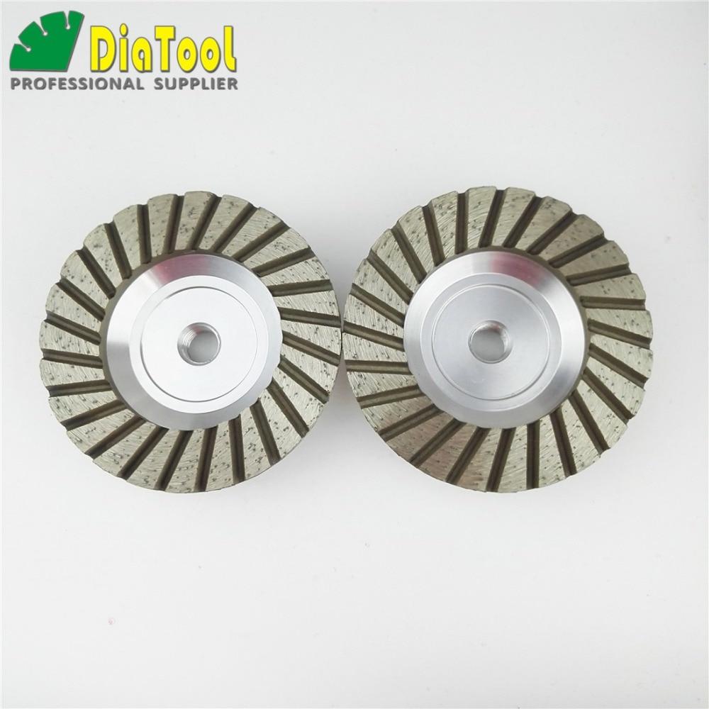 488283530e3 DIATOOL 2PK 4 pulgadas  30 aluminio basado diamante muela taza con M14 hilo  para hormigón de granito
