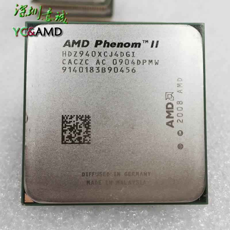 Prix pour AMD Phenom II X4 940 3.0 GHz Quad-Core CPU Processeur HDZ940XCJ4DGI 125 W Socket AM2 +/940PIN livraison Gratuite, de travail 100%