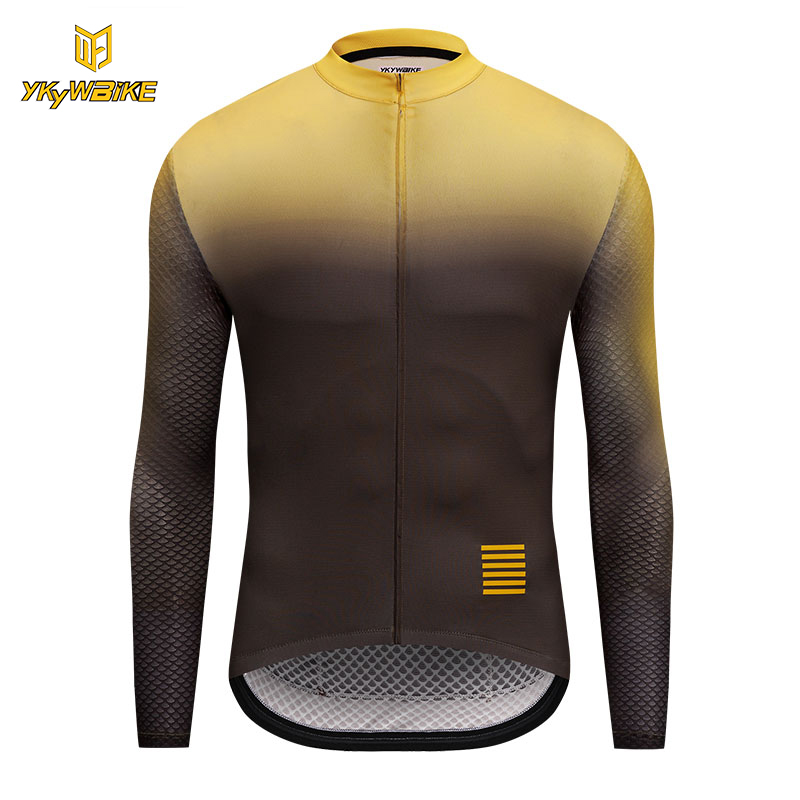 YKYWBIKE Long Sleeve Cycling Jerseys 2018 Men Bike Sportswear High Quality Cycling Clothing Bicycle Shirts Maillot Ropa Ciclismo rock racing cycling clothing couple jerseys short sleeve high quality paladinsports christmas design