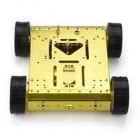 4WD Drive Mobile Robot Platform for Robot Arduino UNO MEGA2560 R3 Duemilanove gold