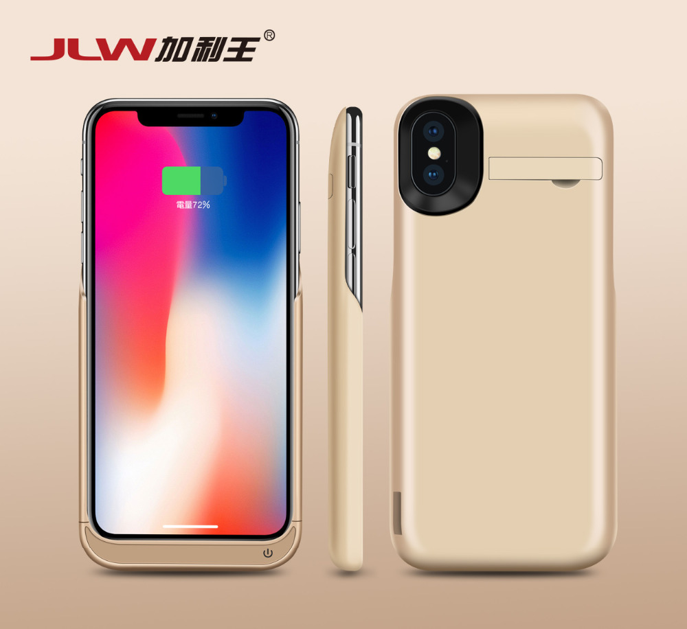 Battery Case For Iphone X Us 34 Jlw 5500mah Battery Case For Iphone X Ultra Thin Backup Charger Cover For Iphone X Power Bank Battery Charger Case Bracket In Battery