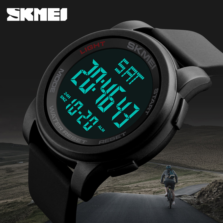 SKMEI Brand Men Clock Relogio Masculino Sports Watches Double Time Countdown Relojes Waterproof LED Digital Wristwatches 1257