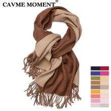 CAVME Wool Scarf for Unisex Ladies Men Long Scarves Double Color Soft Woolen Winter Fashion Wraps Shawl 400g 70*200cm