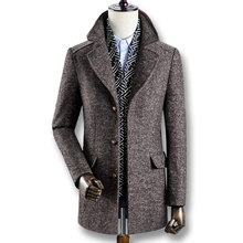 iSurvivor 2019 Men Winter Autumn Thick Wool Coats Parkas Male Casual Fashion Slim Fit Large Size Business Dress Coats Blends Men cheap Wool Blends Turn-down Collar Single Breasted Regular 100 Polyester Jersey Acetate Wool Polyester Full Conventional None