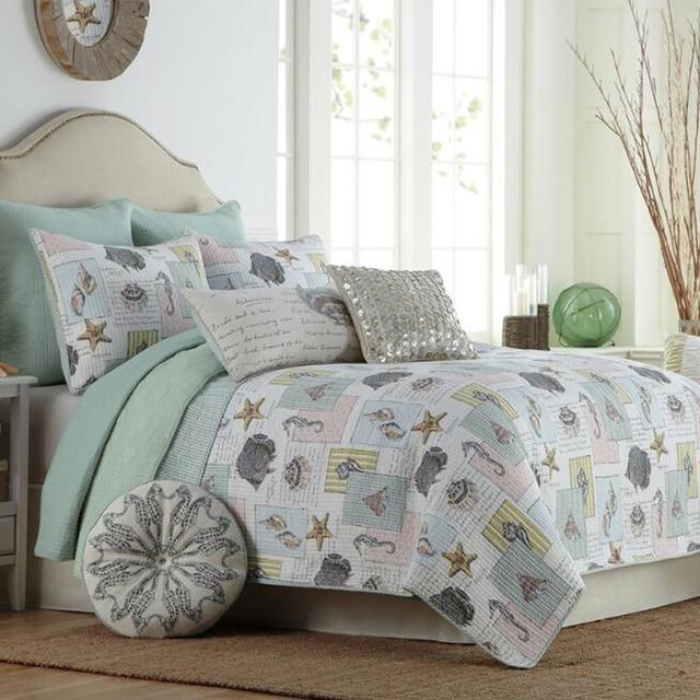MILAIYA American style print quilted bedding sets sea