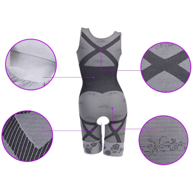2016 Women's High Quality Slim Corset Slimming Suits Body Shaper Charcoal Sculpting Underwear 6 Size Slimming Underwear