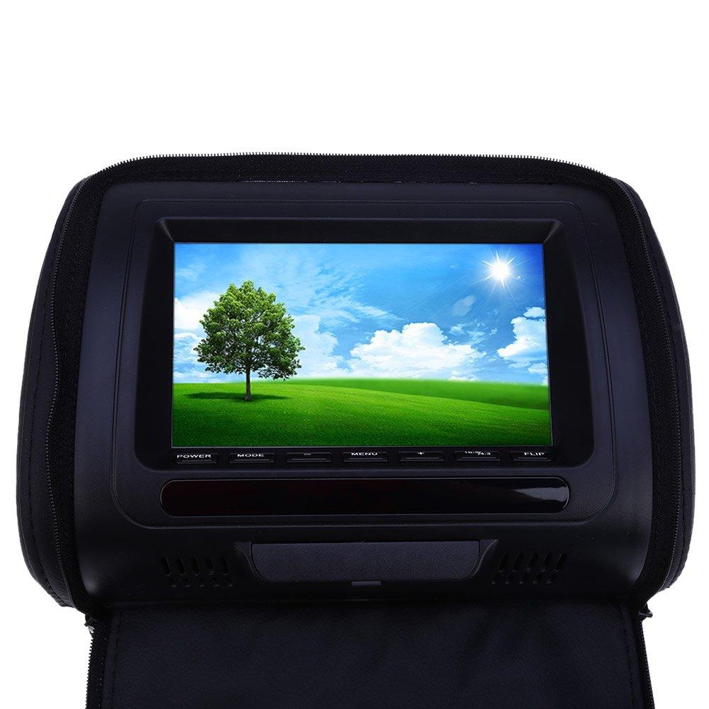 Aliexpress com buy 2pcs pair car headrest dvd player lcd screen xd783 7 inch car audio universal car dvd player backseat monitor fm transmitter from
