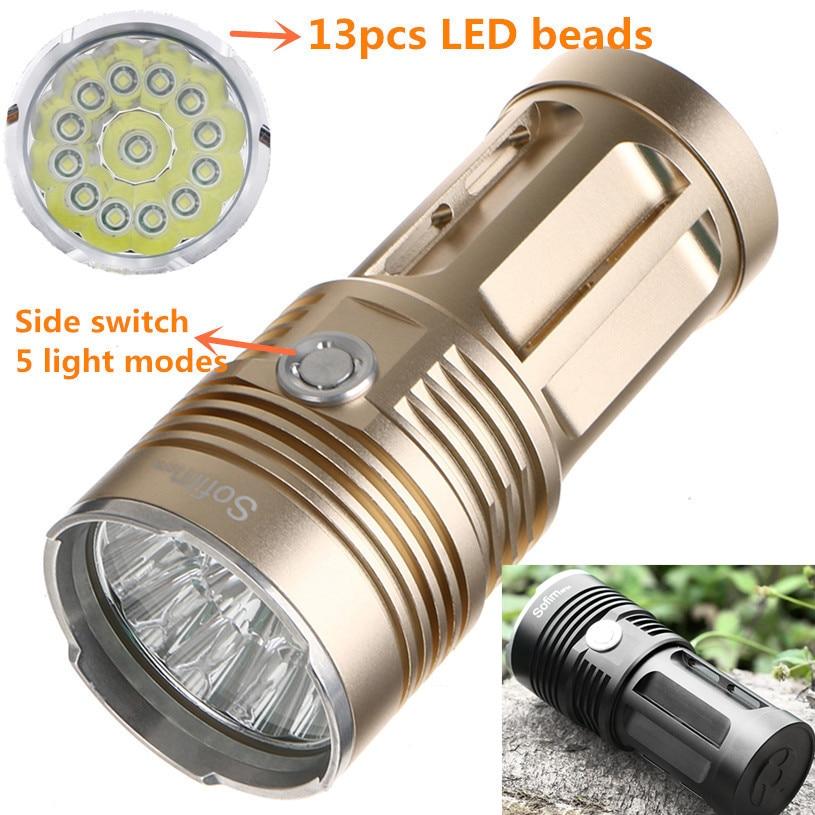 Powerful LED Flashlight Cree XML T6 High Power Flashlight 18650 Searchlight Torcia torch light lanterna hunt camping Bike light