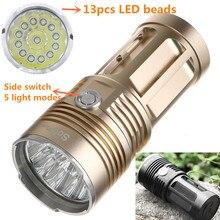 Poderosa Lanterna LED Cree XML T6 High Power Lanterna 18650 Torcia Searchlight torch light lanterna caça camping luz Da Bicicleta