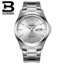 Binger Switzerland watches men luxury brand Men s Date Stainless Steel Wristwatch Good Quality Waterproof Sapphire