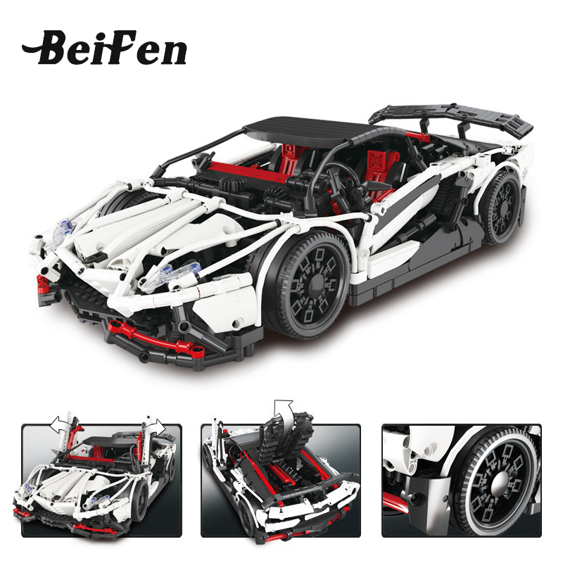 Technic Series the Hatchback Type R Set Building Blocks Bricks LegoINGlys Educational Toys Race Car Gift Technic lepine 23006 black pearl building blocks kaizi ky87010 pirates of the caribbean ship self locking bricks assembling toys 1184pcs set gift