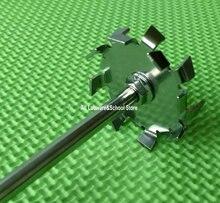 1 Uds de paleta de placa de dispersión de acero inoxidable de laboratorio, cuchilla de máquina de dispersión de disco de dispersión con varilla agitadora