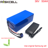 DIY ebike battery 36v 1000W electric bicycle battery 36v 50ah electric bike battery pack with BMS and charger For Samsung cell