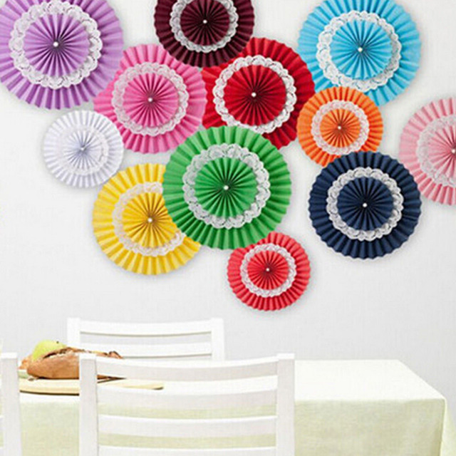 1pcs 15cm Flower Origami Paper Fan Wedding Decoration Home Decorations Birthday Party Kids